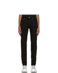 Alexander McQueen Black Top Stitch Jeans