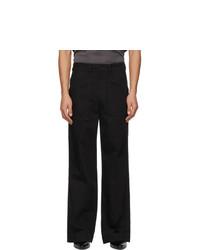 Lemaire Black Wide Leg Jeans