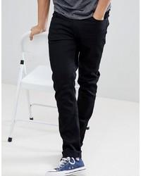 Nudie Jeans Co Lean Dean Jeans In Ever Black