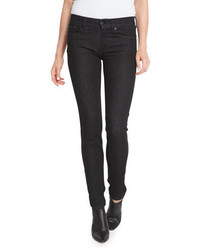 Ralph Lauren Collection 400 Matchstick Mid Rise Jeans Black Rinse