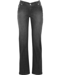 Opening Ceremony Dip Mid Rise Straight Leg Jeans Black