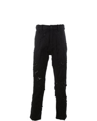 Ann Demeulemeester Distressed Cropped Slim Fit Jeans
