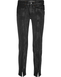 Givenchy Distressed High Rise Slim Leg Jeans