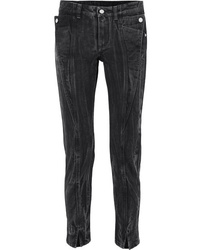 Givenchy Distressed Mid Rise Slim Leg Jeans