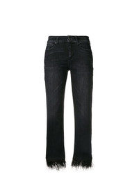 Cambio Feather Hem Cropped Jeans