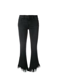 Frame Denim Frayed Cropped Jeans