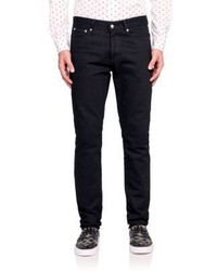 Givenchy Leather Patch Pocket Straight Leg Jeans