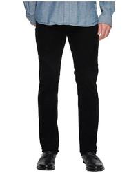 AG Adriano Goldschmied Matchbox Slim Straight Leg Stretch Cordoury In Sulfur True Black Jeans