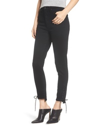 Citizens of Humanity Olivia High Waist Lace Up Hem Slim Jeans