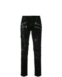 God's Masterful Children Shredded Trim Slim Fit Jeans