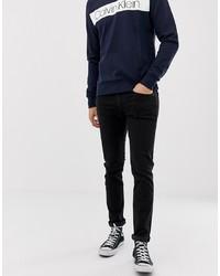 Calvin Klein Slim Fit Jeans In Black Tarantula 911