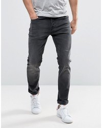 ONLY & SONS Slim Fit Stretch Jeans In Washed Black