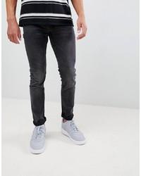 ONLY & SONS Slim Fit Washed Black Jeans Denim