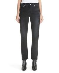Balenciaga Twist Hem Straight Leg Jeans