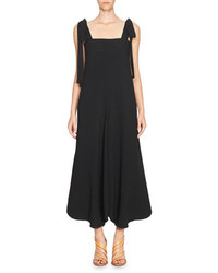 Chloé Chloe Bow Shoulder Sleeveless Jumpsuit Black