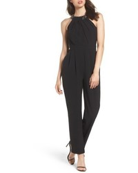 Crystal pleated neck jumpsuit medium 5255964