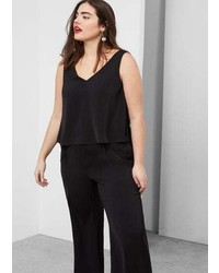Violeta BY MANGO Flowy Long Jumpsuit