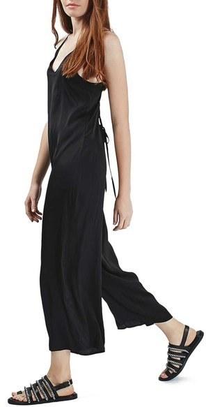 ad9362b47ad4 ... Black Jumpsuits Topshop Lace Up Back Crop Jumpsuit ...