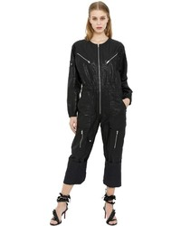 Isabel Marant Laminated Cotton Linen Jumpsuit