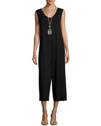 Eileen Fisher Lightweight Cropped Jersey Jumpsuit Black