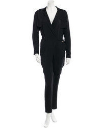 Gucci Long Sleeve Silk Jumpsuit