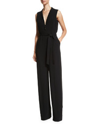 Elizabeth and James Meredith Sleeveless Belted Jumpsuit Black