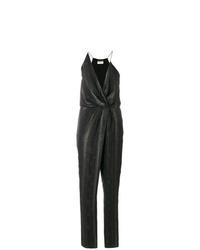 Saint Laurent Metallic Striped Jumpsuit