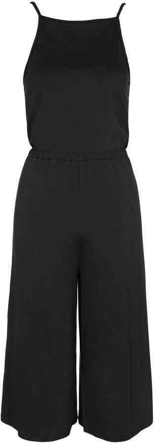 d4708b5e1bc4 ... Black Jumpsuits Topshop Petite High Neck Culotte Jumpsuit ...