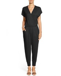 Petite short sleeve wrap top jumpsuit medium 3752961