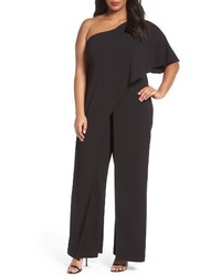 Adrianna Papell Plus Size One Shoulder Jumpsuit