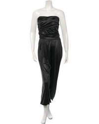 Elizabeth and James Satin Draped Jumpsuit