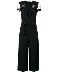 RED Valentino Sheer Shoulders Belted Jumpsuit