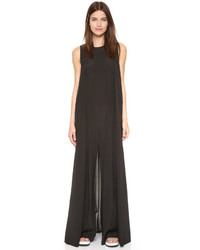 DKNY Sleeveless Wide Leg Jumpsuit