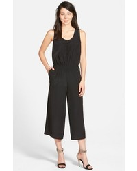 Halogen Sleeveless Woven Crop Jumpsuit