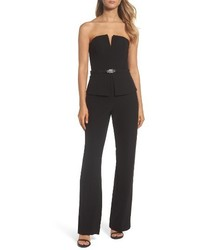 Vince Camuto Strapless Peplum Jumpsuit