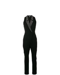 Karl Lagerfeld Studded Lapel Jumpsuit