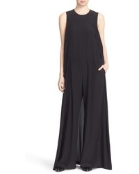 DKNY Wide Leg Stretch Silk Jumpsuit