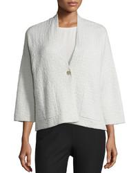 Eileen Fisher 34 Sleeve Grid Kimono Jacket