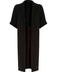 River Island Black Side Split Loose Kimono Jacket