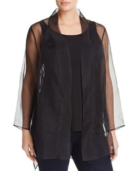 Eileen Fisher Plus Sheer Kimono Jacket