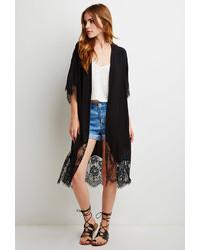 Forever 21 Eyelash Lace Kimono