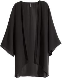 H&M Kimono Black Floral Ladies