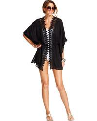 LaBlanca La Blanca Crochet Trimmed Kimono Style Cover Up