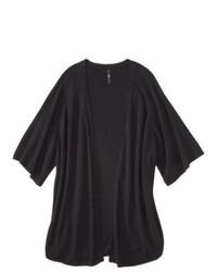 labworks for Target Labworks Plus Size Short Kimono Sleeve Cardigan Black 2