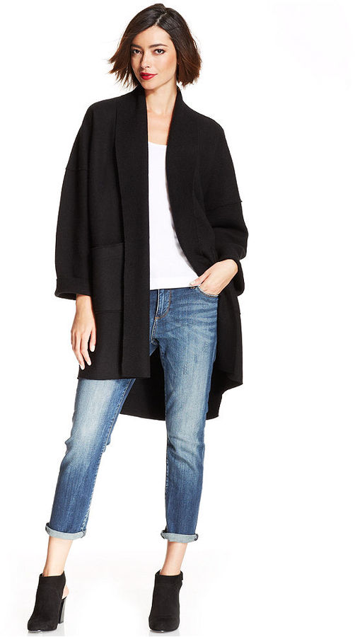 Famous Eileen Fisher Merino Wool Kimono Cardigan | Where to buy & how to wear UX16