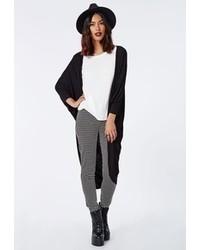 Missguided Batwing Jersey Kimono Black
