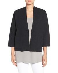 Eileen Fisher Organic Linen Cotton Grid Texture Kimono