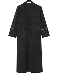 Maje Pleated Jacquard Kimono Black