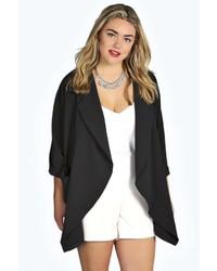 Boohoo Plus Niamh Drape Front Kimono Jacket