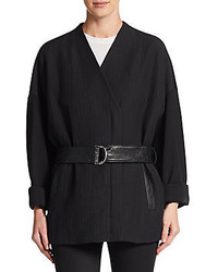 Helmut Lang Rafter Stretch Cotton Kimono Jacket